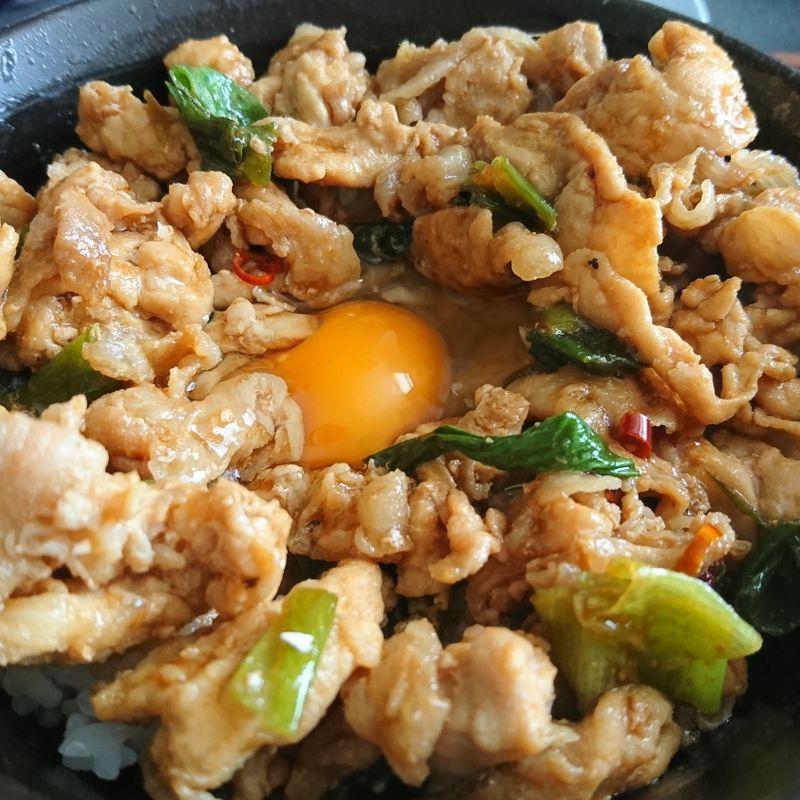 Easy Stamina-don (Garlic Pork on Rice) photo