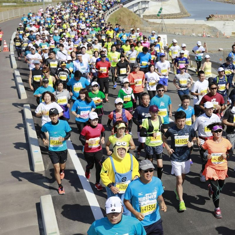 "GALLERY: ""Revive"" marathon held in tsunami-hit northeastern Japan photo"