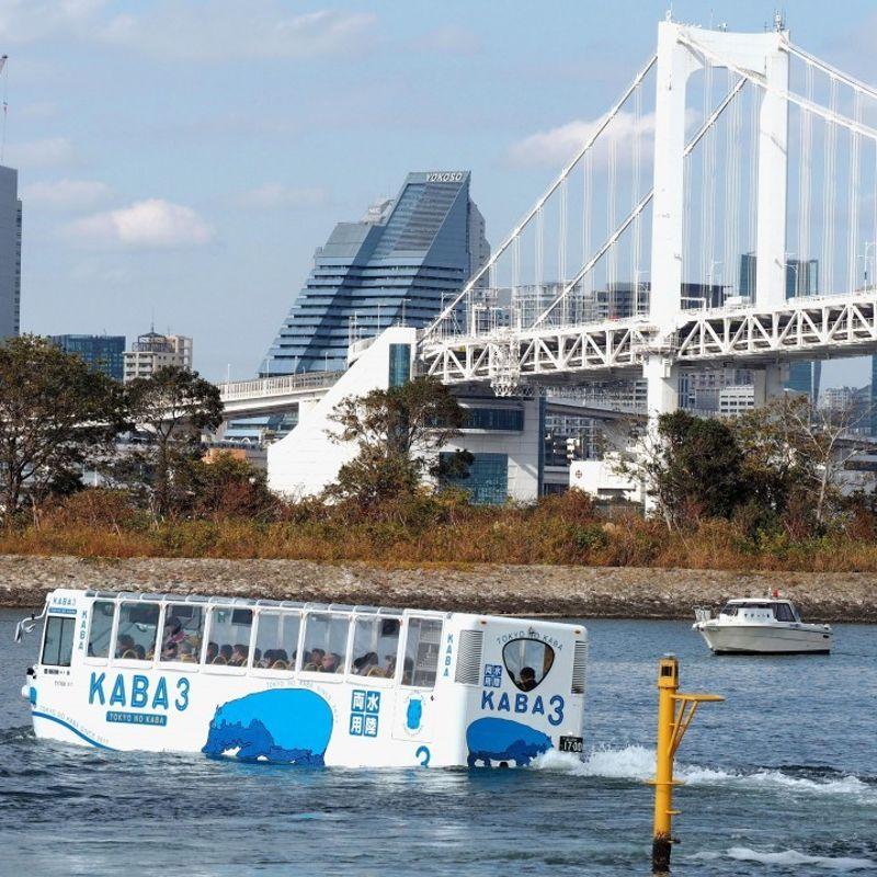 New amphibious bus tour launched in Tokyo Bay photo
