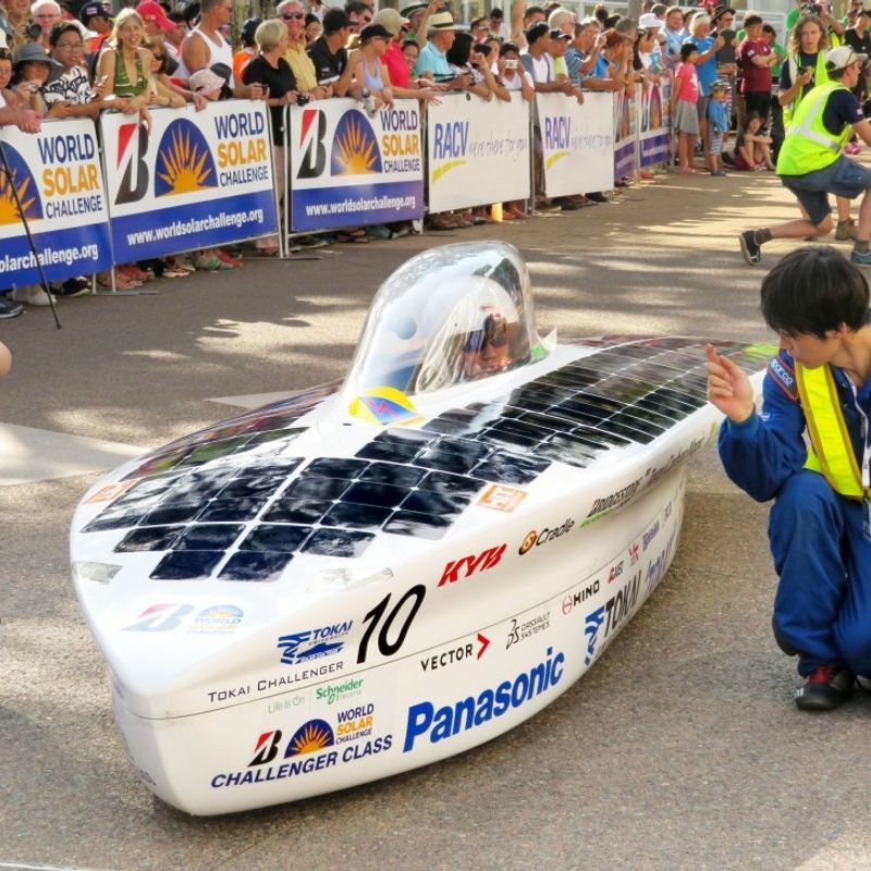 Solar cars begin 3,000-km journey through center of Australia photo