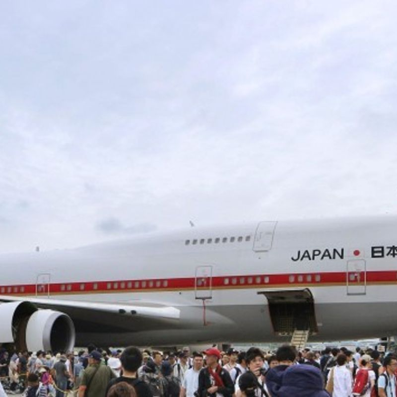 New gov't aircraft for emperor, PM arrives in Japan ahead of 2019 launch photo