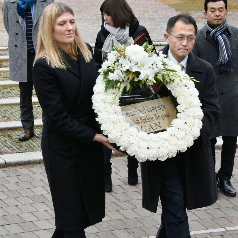 Chief of Nobel-winning antinuke group denied meeting with Japan PM Abe photo