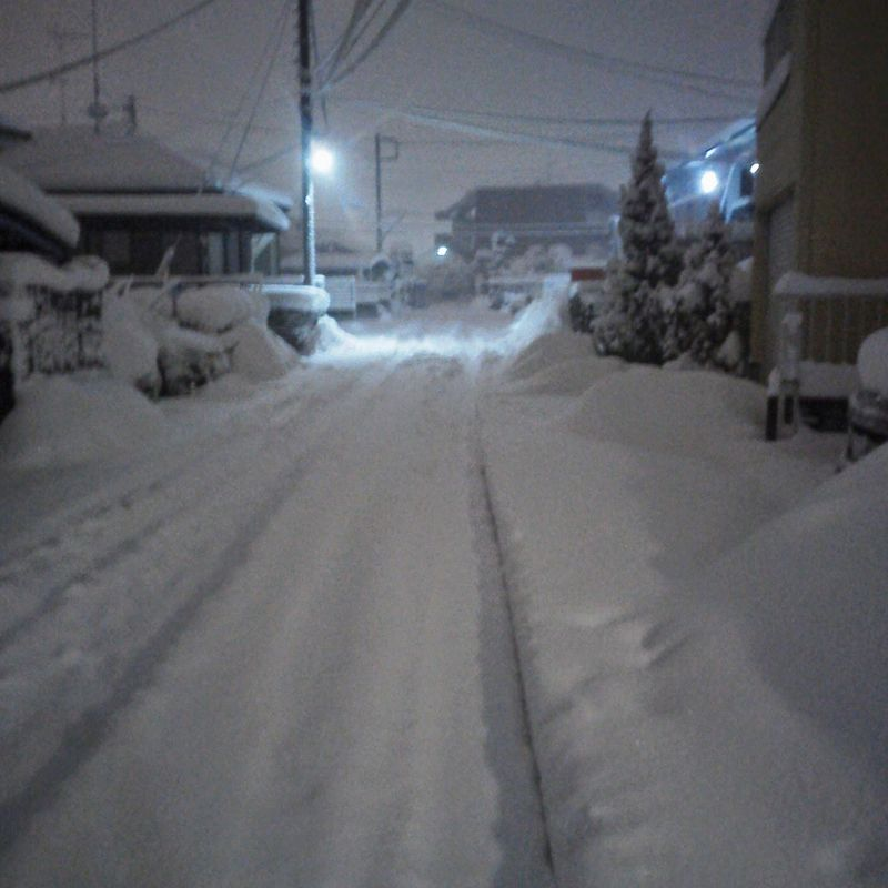 A couple of feet of snow do little to disrupt daily life in rural Japan photo