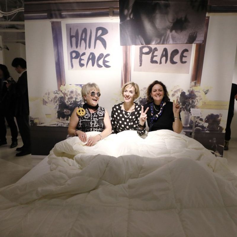 "Lennon and Ono's ""Bed-In for Peace"" remembered in Tokyo photo"
