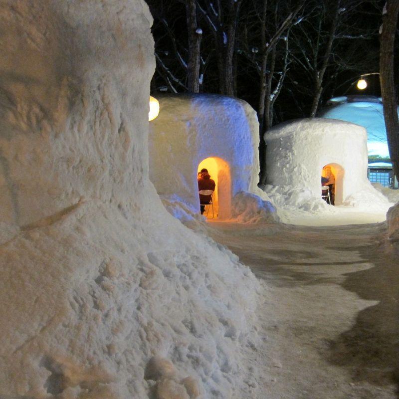 "Snow houses ""Kamakura"" festival in Yunishigawa photo"