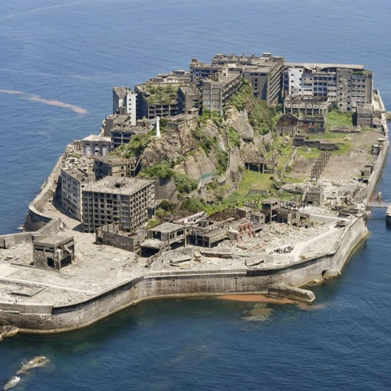 """""""Battleship"""" island in southwestern Japan to reopen to tourists Feb. 1 photo"""