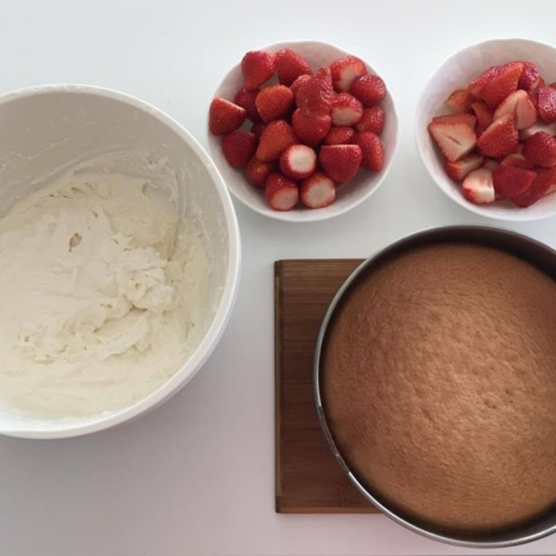 How to make japanese strawberry shortcake photo