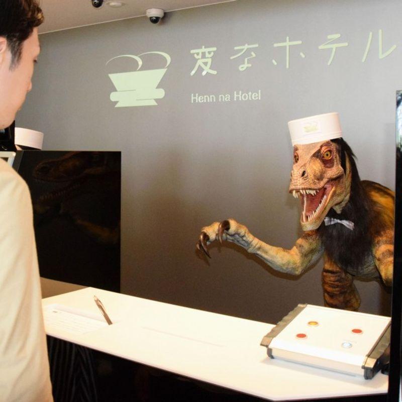 彼は日本に10人以上のロボットスタッフのホテルをオープン photo