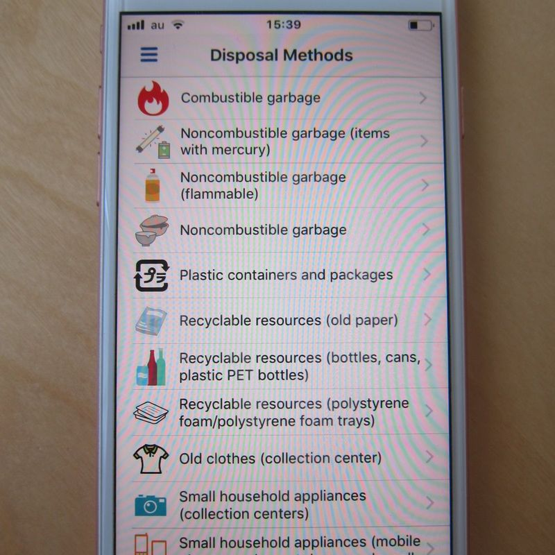 Waste disposal app photo