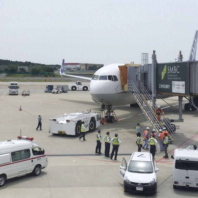 ANA機の8人の乗客は、煙がキャビンを満たした後に病気になります photo