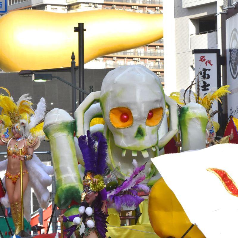 Asakusa Samba Carnival 2018:  Faces and costumes of the 37th parade photo
