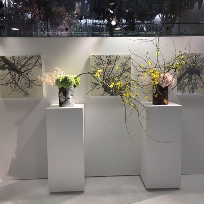 Our Ikebana headmaster's solo exhibition photo