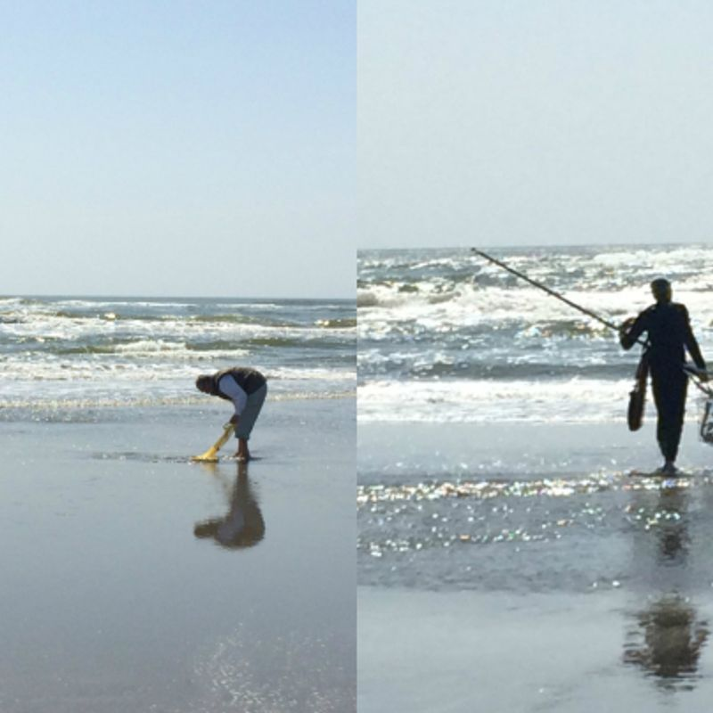 Digging for Clams Post Surf in Chiba photo