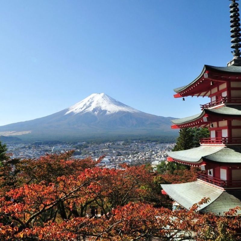 """Mt. Fuji here"": new online map shows where Japan's top peak can be seen photo"